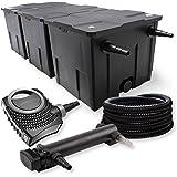 SunSun 3-Kammer Filter Set 90000l 24W UVC 3er Teich Klärer NEO7000 50W Pumpe Schlauch