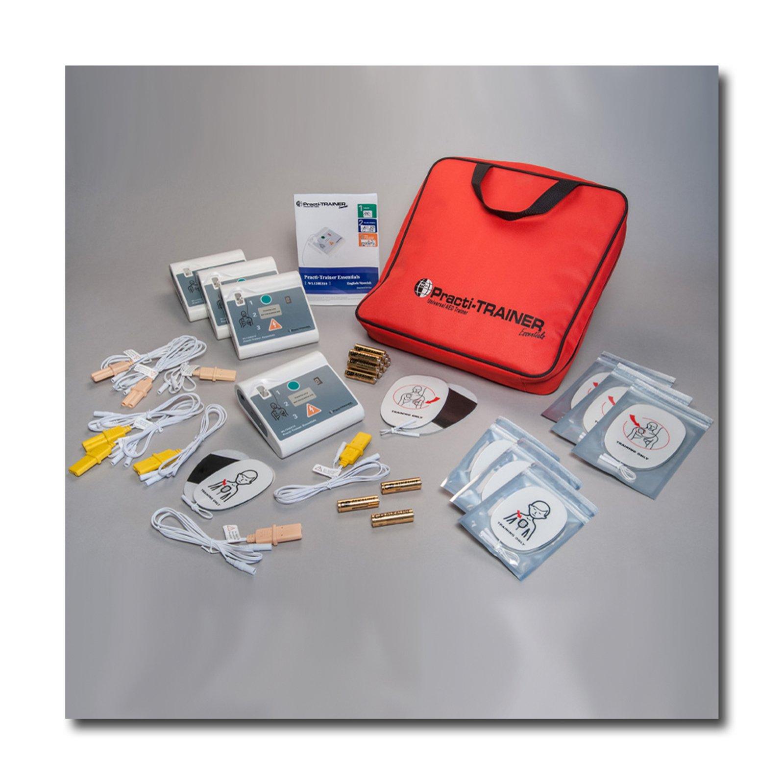 Pack of 4 AED Practi-Trainer Essentials CPR defibrillator training units, WNL# WL120ES10-4