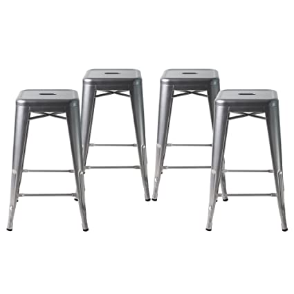 amazon com buschman set of four gray 24 inches counter high tolix