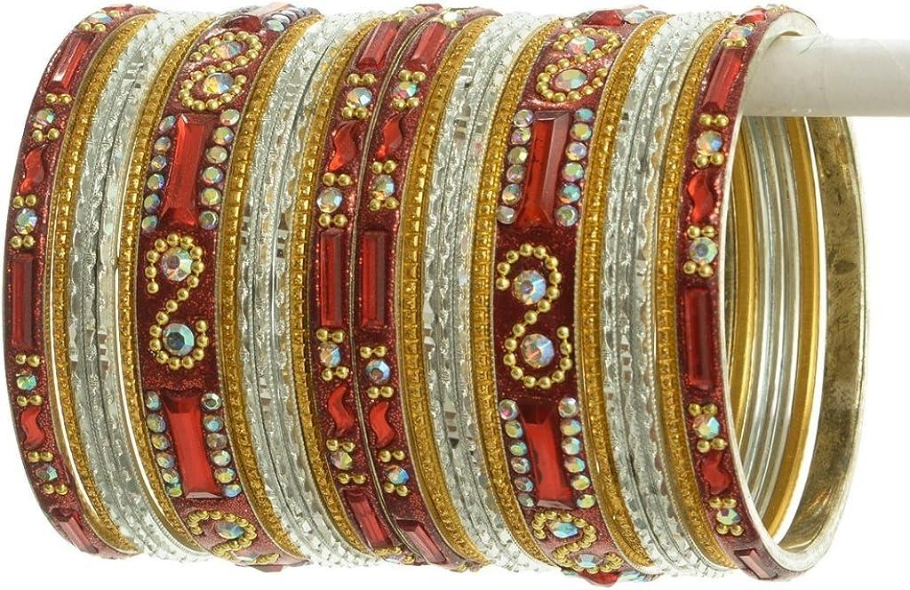 Sushila Art Indian Bangles Set Ethnic Traditional Bracelets Bollywood Bridal Churi 2.6 Multi Color