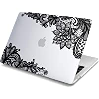 Batianda Lace Design Matte Hard Cover Case for New MacBook Air 2018 13 inch Version with Retina Touch ID Model:A1932 (Transparent)
