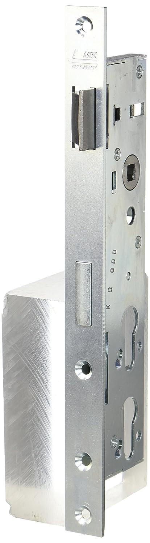 Stulpe 268 mm flach Edelstahl Rohrrahmen-Schloss mit 2 PZ Lochungen M/üllraumschloss Dornma/ß: 35 mm 1 St/ück