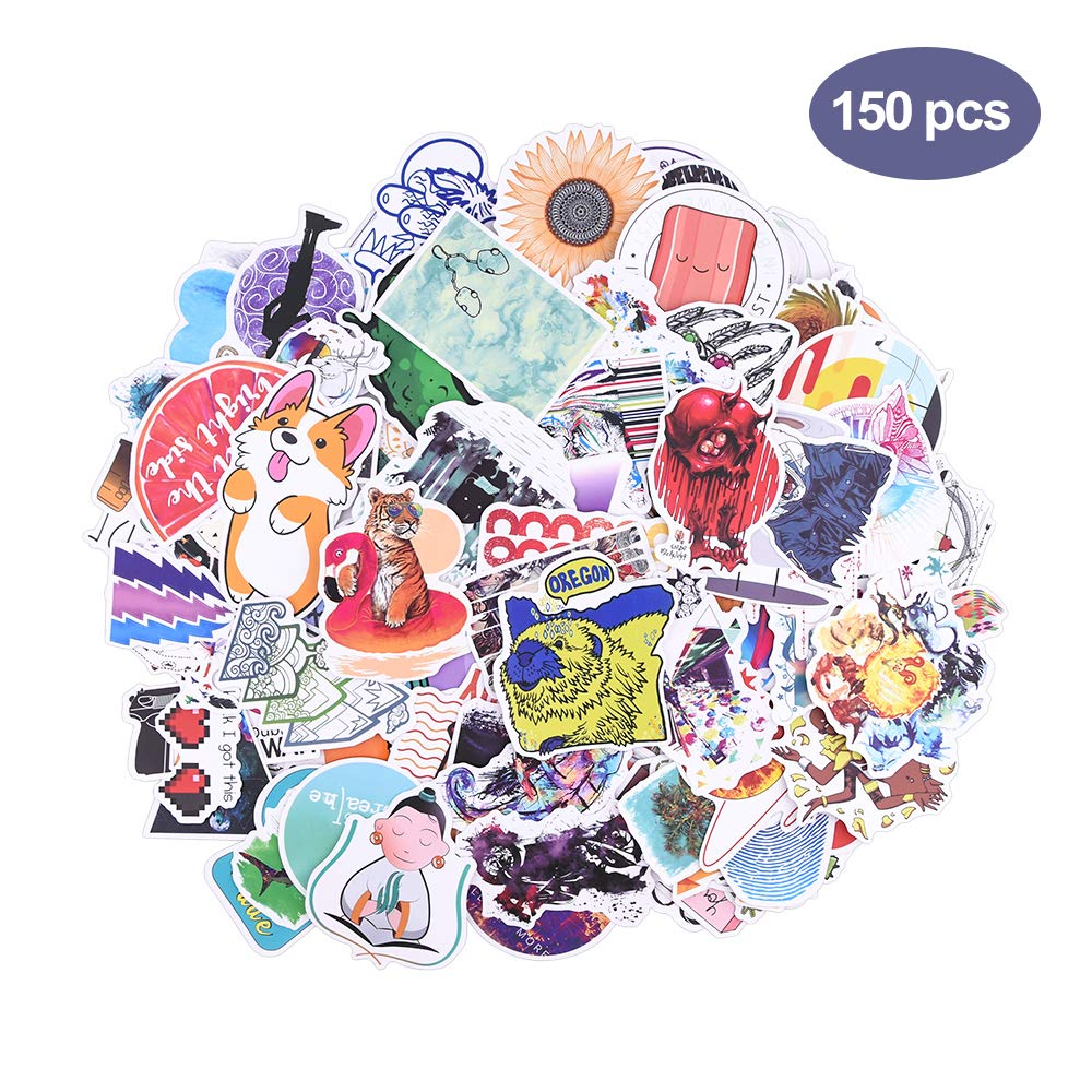 Stickers for Water Bottles Big 150-Pack Cute,Waterproof,Aesthetic,Trendy Stickers for Teens,Girls Perfect for Waterbottle,Laptop,Phone, Car Skateboard Motorcycle Bicycle Luggage Guitar Bike Decal