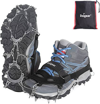 Walk Traction Cleats Friction Walking Jogging Hiking on Snow Ice 24 Teeth