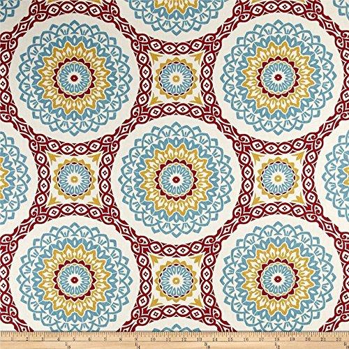 (Discount Fabric Richloom Upholstery Drapery Olympus Mulit Color Medallion RL107 )
