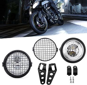 Nero Universale Fari Moto con Integrato Frecce Led D.7 Pollici 12V 35W