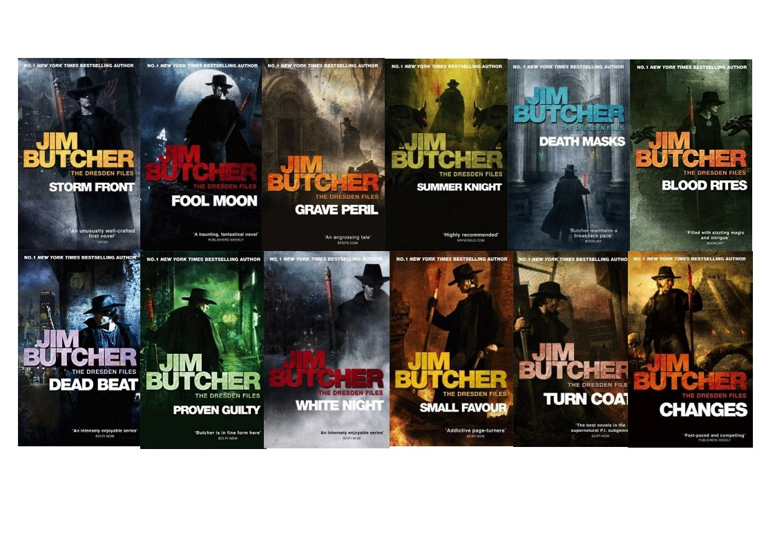 Jim Butcher The Dresden Files Series Set (book 112): Storm Front, Full  Moon, Grave Peril, Summer Knight, Death Masks, Blood Rites, Dead Beat,  Proven Guilty