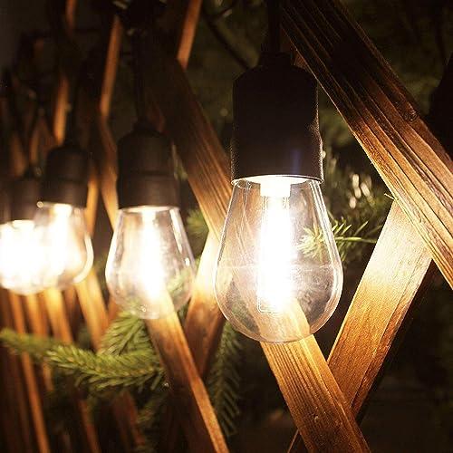 56ft Commercial Grade Waterproof Outdoor String Light