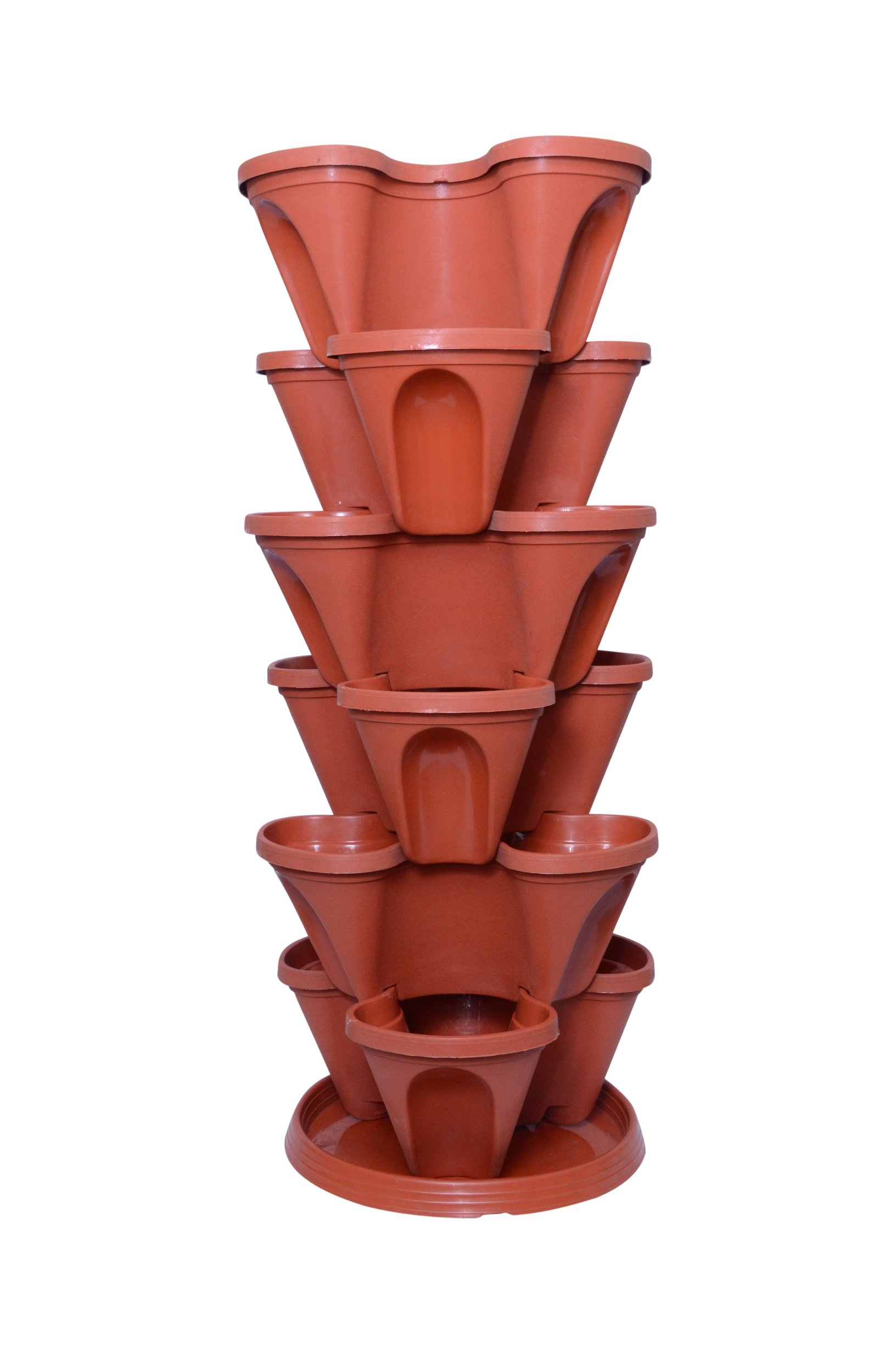 Gardens Need Plastic Stack-A-Pot for Floor Set (Terracotta, 7-Pieces) product image