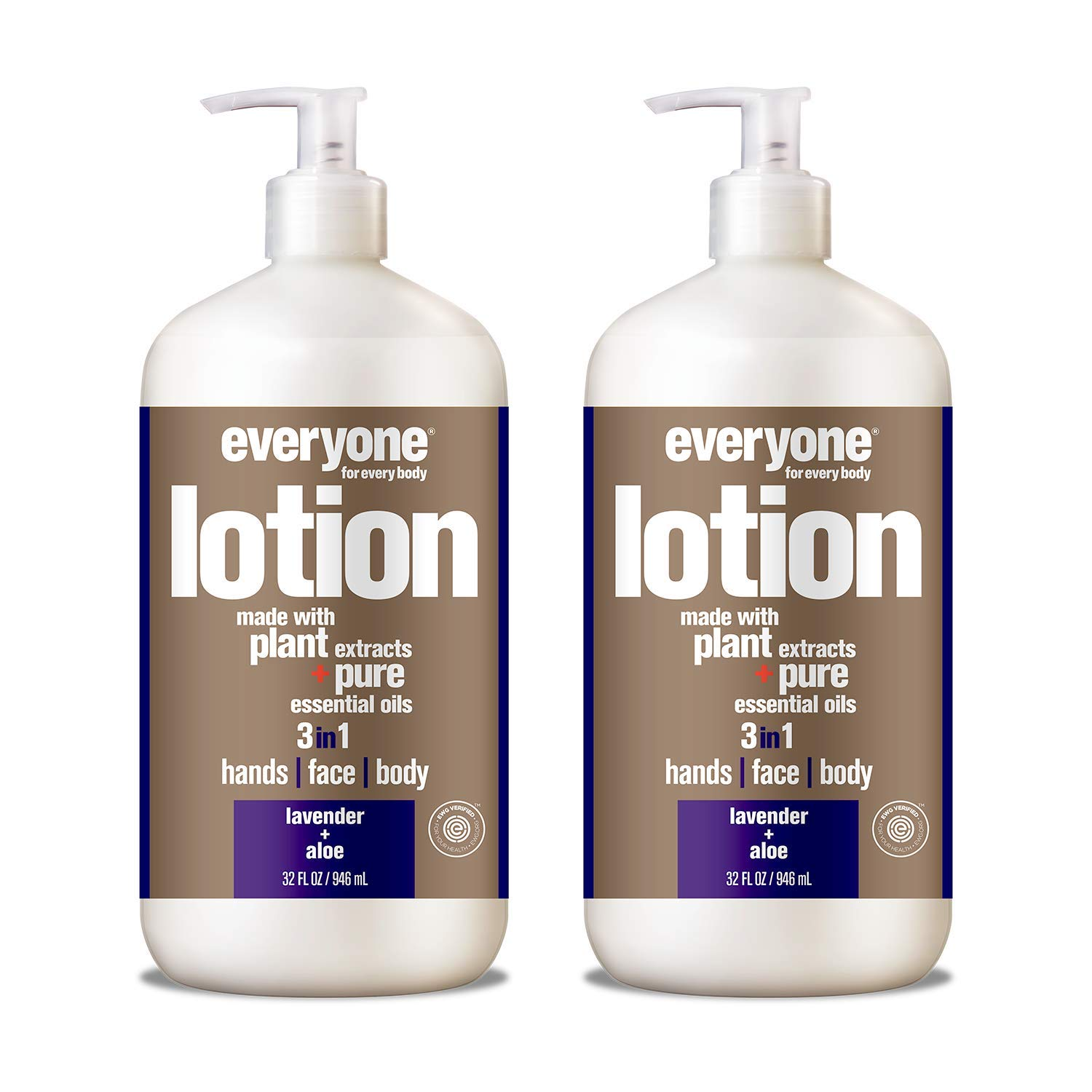 Everyone Lotion, Lavender and Aloe, 32 Fl. Oz (Pack of 2) by Everyone