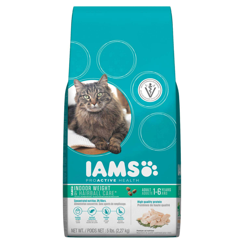 Iams Proactive Health Adult Indoor Weight & Hairball Control Dry Cat Food