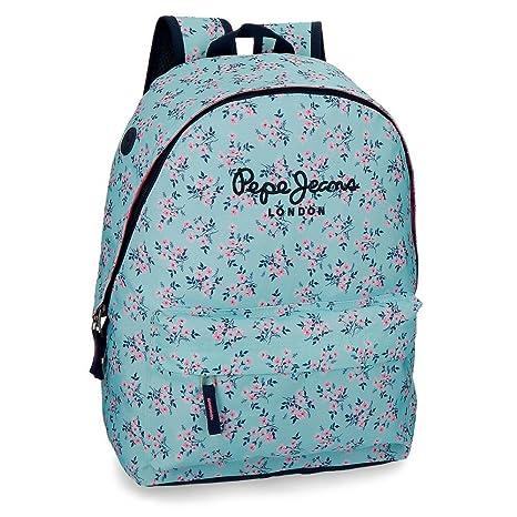 Pepe Jeans 60123B1 Denise Mochila Escolar, 22.85 litros, 42 cm, Azul