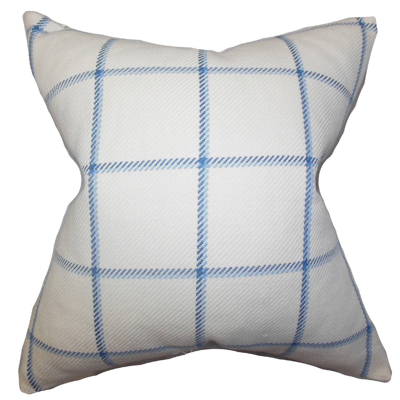 The枕コレクションp20-pt-harbord-lake-c100 Wilmie Plaid枕、ブルー、20