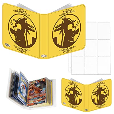 Totem World Detective Pikachu Inspired 3-Ring Binder with 25 9-Pocket Pages and a Mini Binder Collectors Album for Pokemon Cards: Toys & Games