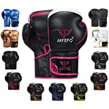 Jayefo Glorious Boxing Gloves Muay Thai Kick Boxing Leather Sparring Heavy Bag Workout MMA Pro Leather Gloves Mitts Work for