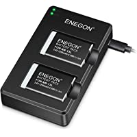 ENEGON NB-13L Replacement Battery Pack(2 Packs) and Dual USB Charger for Canon PowerShot G5X,G7X, G7X Mark II,SX720 HS…