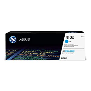 HP 410X (CF411X) Toner Cartridge, Cyan High Yield for HP Color LaserJet Pro M452dn M452dw M452nw MFP M377dw MFP M477fdn MFP M477fdw MFP M477fnw