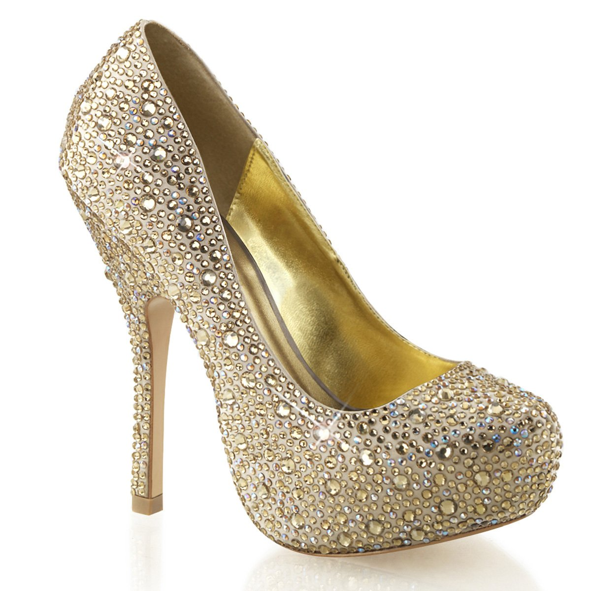 Fabulicious FELICITY-20 - Zapatos de vestir para mujer 42.5 EU|Satin Champagner