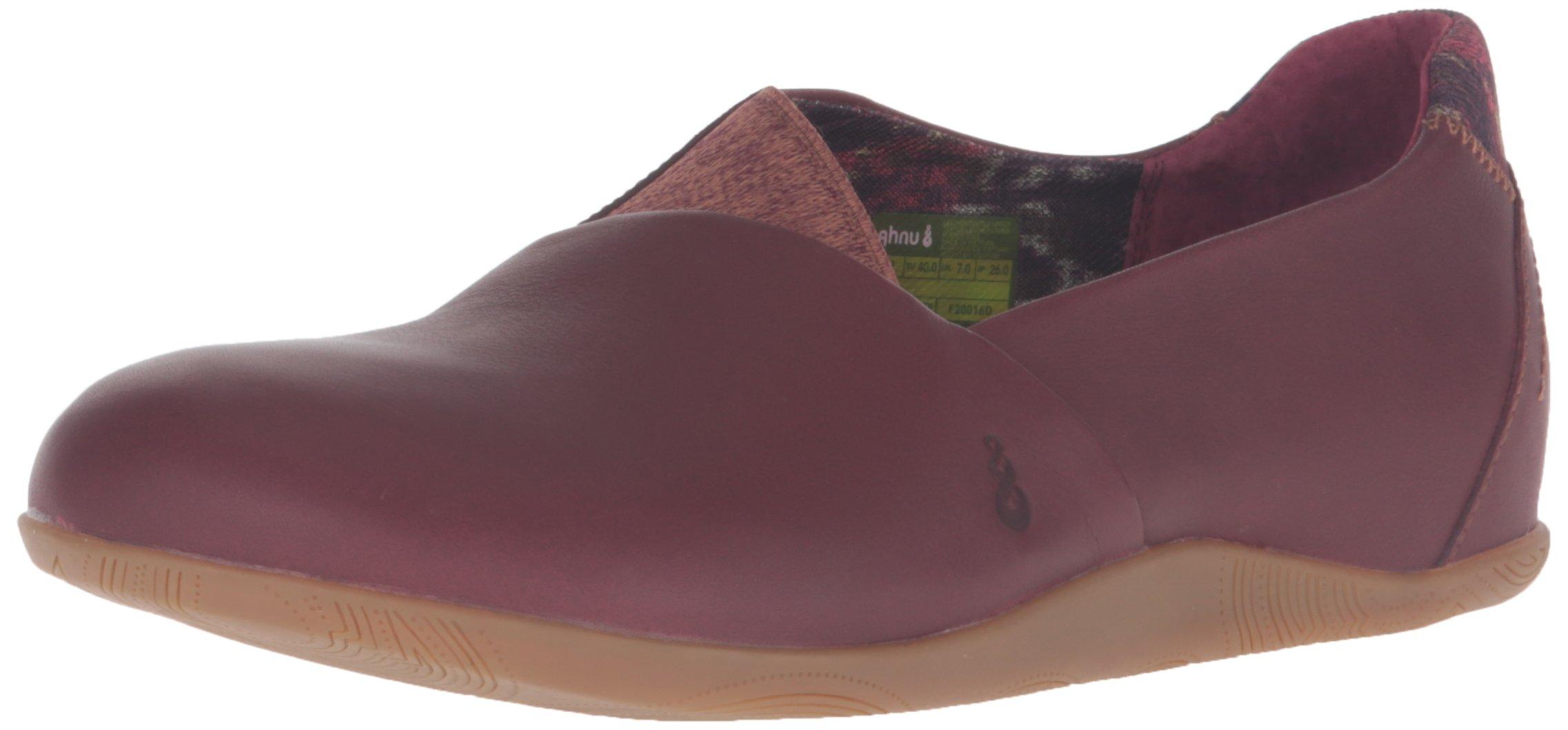 Ahnu Women's Tola Slip-On Casual Shoe, Merlot, 8.5 M US