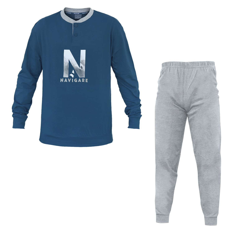 Pigiama Uomo NAVIGARE Cotone Jersey 3 Colori Serafino Art.140751