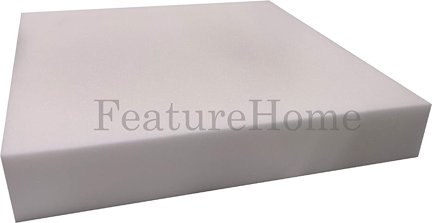 2.5 cm Foam for Sofa Cushion Replacement Firm Upholstery Foam Thick, 18 x 18 1