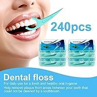 Hilo dental 240 Piezas, Palillos de hilo dental