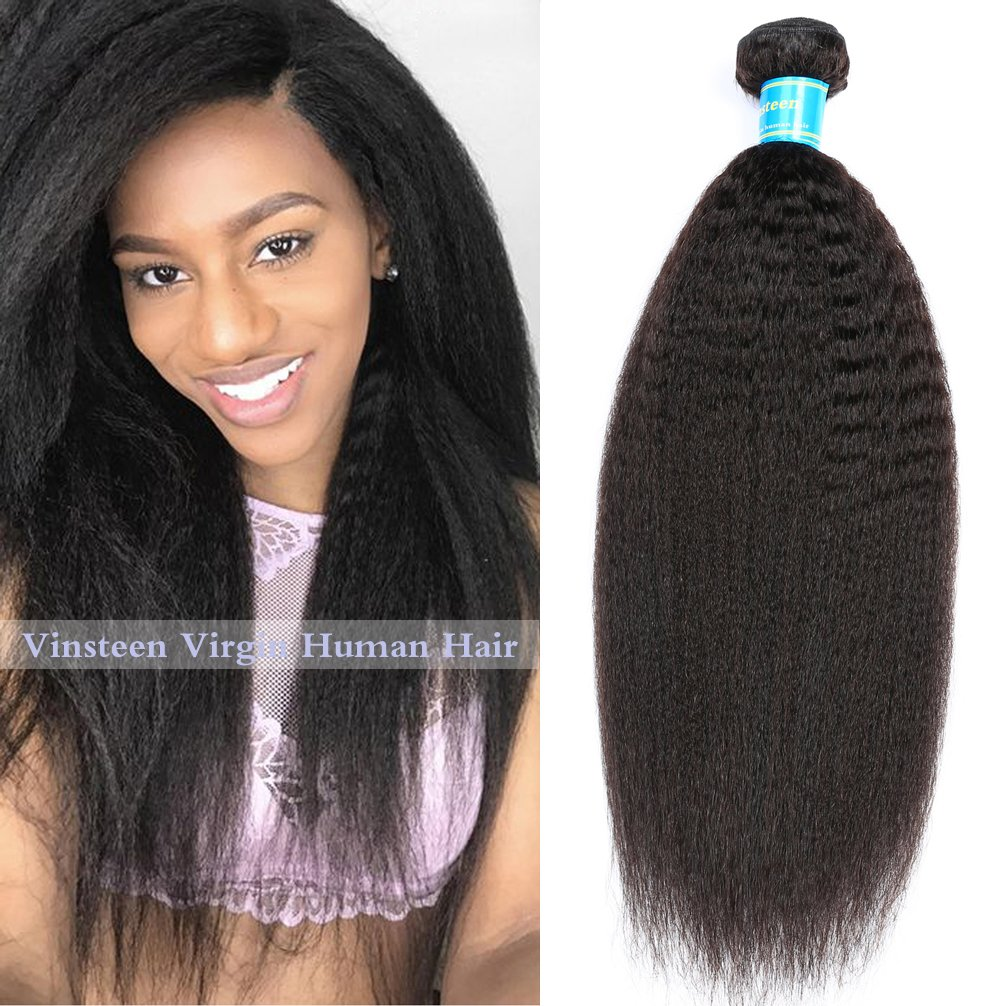 Amazon Vinsteen 8a Human Hair Weave 1 Bundles Kinky Straight