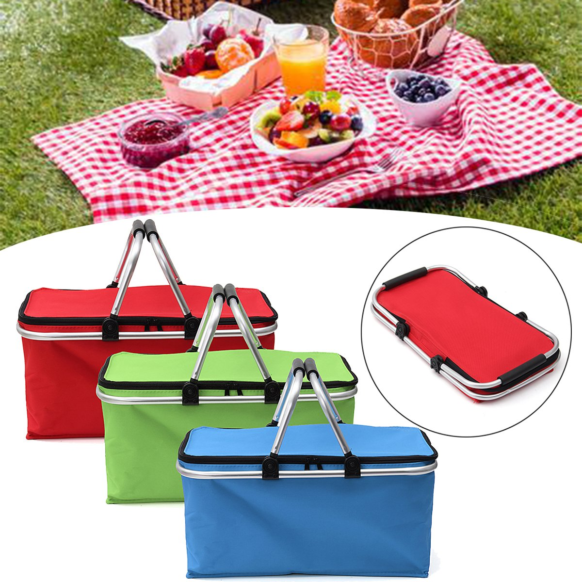 KINGSO 30L Insulated Folding Collapsible Market Picnic