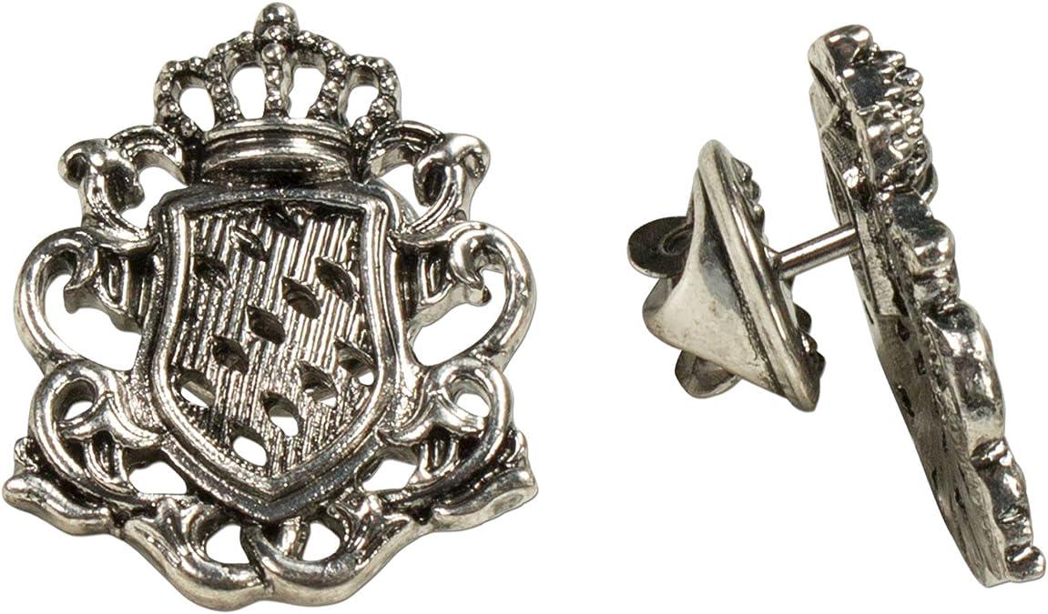 Alpenflüstern Alpen susurro Corbata de Juego de 2 Pins Escudo de Antiguo de Plata de Colores api082: Amazon.es: Joyería