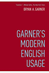 Garner's Modern English Usage Kindle Edition
