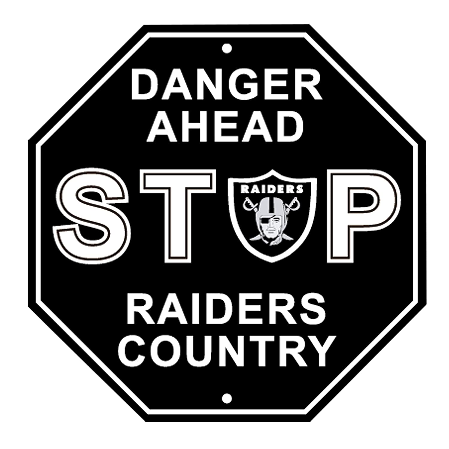 RongJ- store NFL Stop Sign Parking Sign 12' x 12' Danger Ahead for Fans 12 x 12Danger Ahead