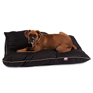 Amazon Com 35x46 Black Super Value Pet Dog Bed By Majestic Pet