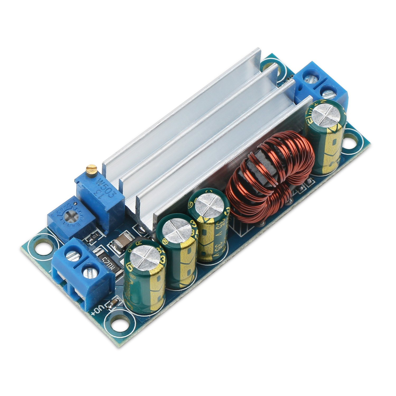 Drok Dc Auto Buck Boost Voltage Converter Step Down High Bucking Regulator Circuit Diagram Electronic Up Adjustable 5v 30v To 05 12v 4a Power Supply