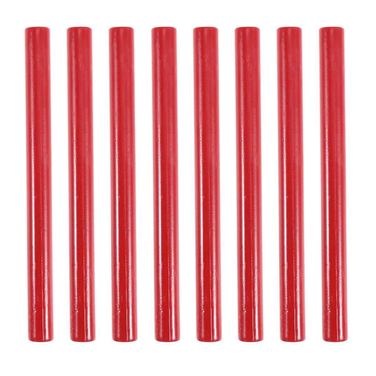 Bianco SUPVOX 8Pcs Bastoncini per Ceralacca Colla per Pistola Sigilli Ceralacca per Timbro Sigillo in Cera Sigillo in Cera per Lettere E Artigianato