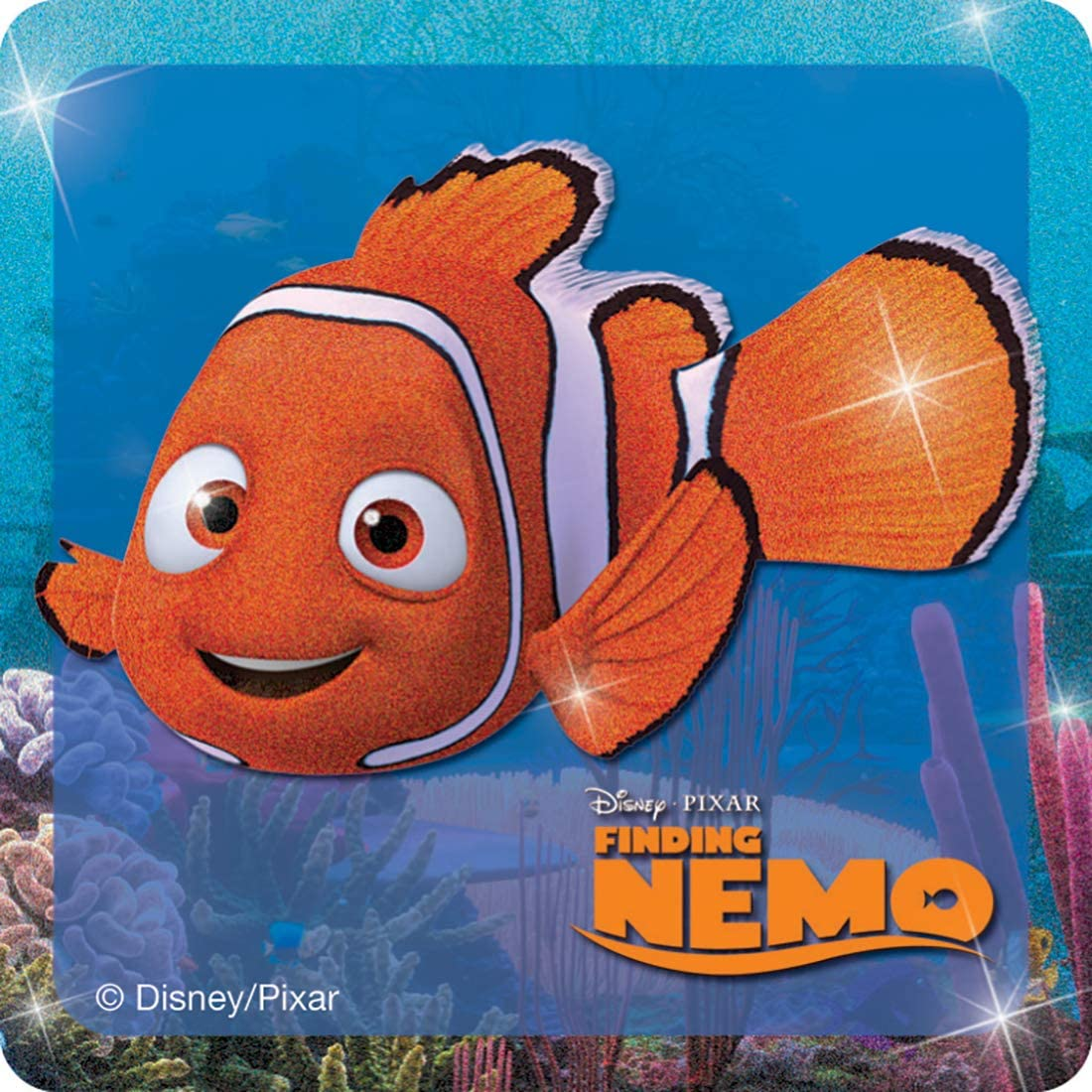 Disney Glitter Finding Nemo Stickers Party Favors 50 per Pack SmileMakers Inc