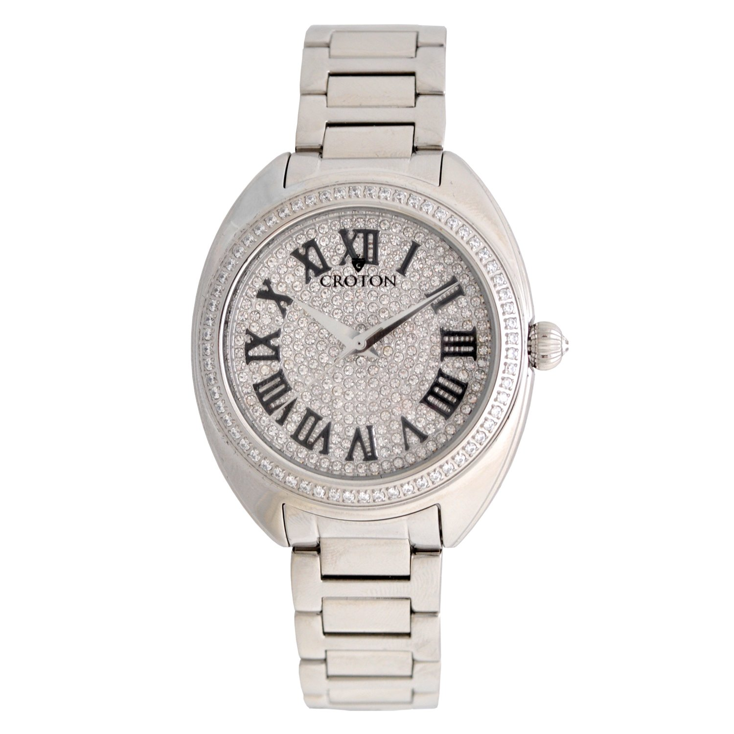 fd32ed669b426 Amazon.com: CROTON Women's Crystal Quartz Watch with Stainless-Steel ...