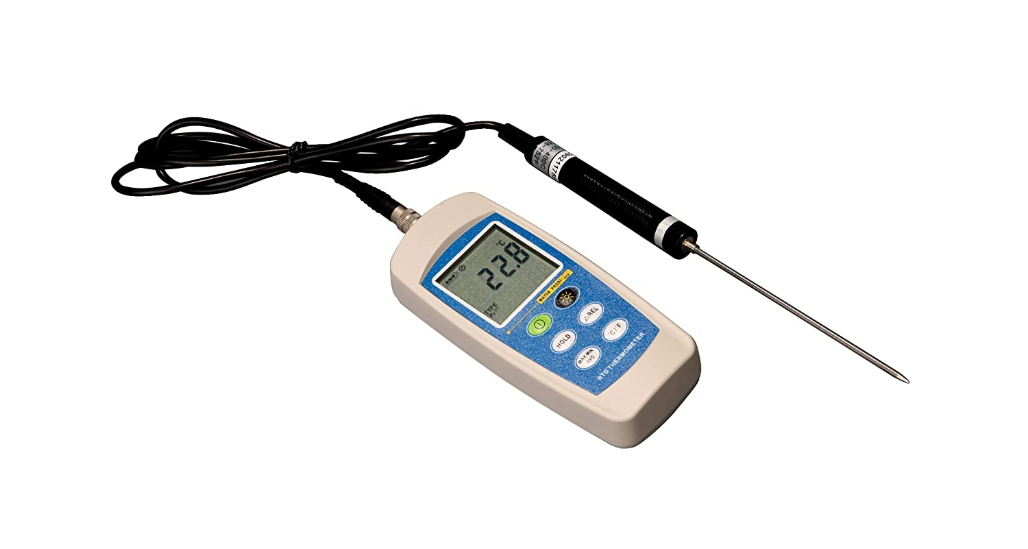 Thermco ACCD370PFC High Precision Pt100 Platinum Digital Certified Thermometer for Life Science, Certified at -20, 4, 25, 37, 56, 95, 121°C