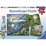 Ravensburger - 09317 - Puzzle Enfant Classique - La Fascination des Dinosaures - 3 x 49 Pièces