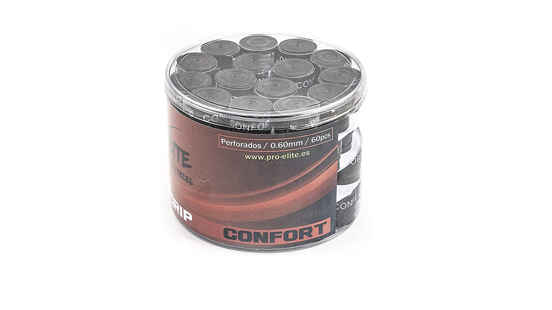 overgrips Pro Elite Confort Perforados Bote de 60 unds. (Negro ...