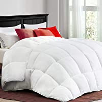 Coonp All Season Twin Comforter with Corner Tabs (White)