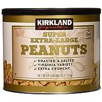 Kirkland Signature Nuts, Super XL VA Peanuts, 40 Ounce (Pack of 2)