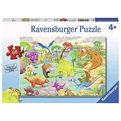 Ravensburger 09516, Time Traveling Dinos 60 Piece Puzzle for Kids, Every Piece is Unique, Pieces Fit Together Perfectly: Toys & Games