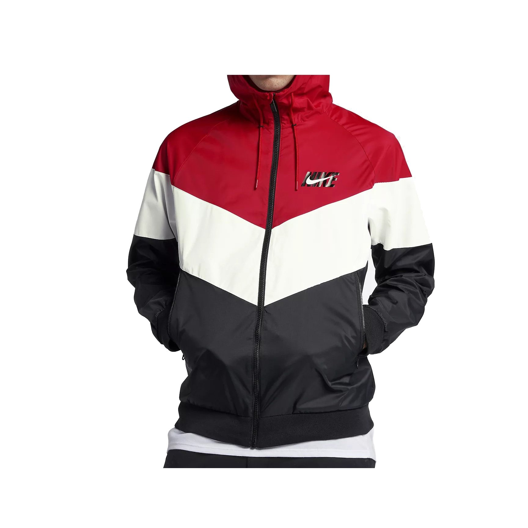 3c4b6b9ee89b Galleon - NIKE Mens HD GX Windrunner Hooded Track Jacket University  Red Summit White Black AJ1396-658 Size Large