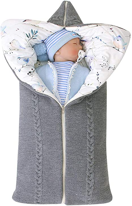 Newborn Baby Boy Soft Warm Fleece Blanket Wrap Bed Cot Pram Moses Basket Blue