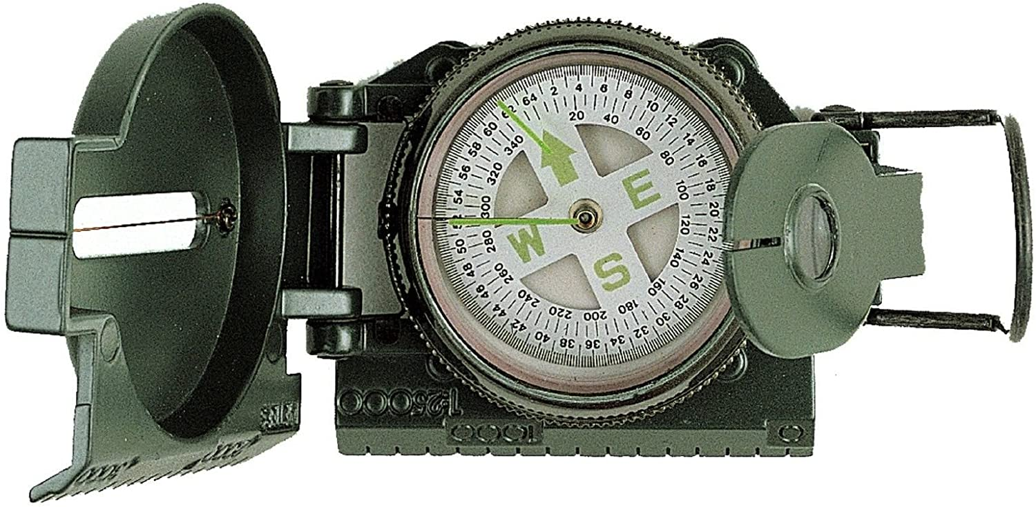 Image result for Military Compass With Mangifying Glass and Side Ruller