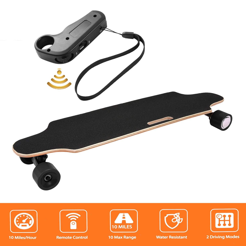 efficiency Electric Skateboard Longboard Skateboard with Wireless Remote Control Bluetooth, Long Board 7 Layers Board Solid Maple Leaf, Maximum Speed 20km h