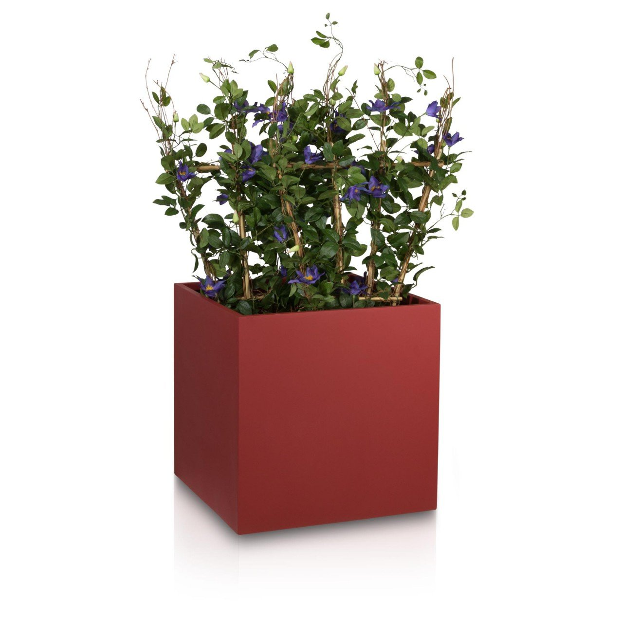 pflanzk bel blumenk bel cubo 60f fiberglas 60x60x60 cm rot matt g nstig. Black Bedroom Furniture Sets. Home Design Ideas