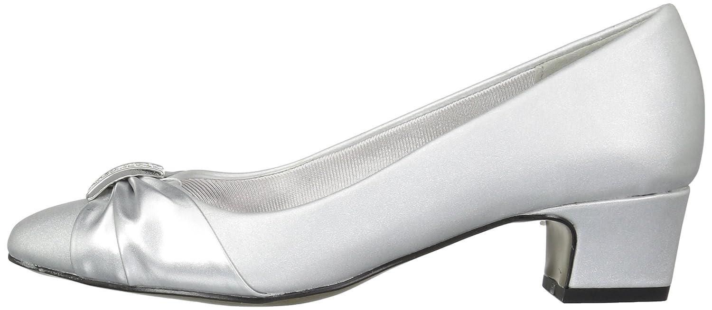 Easy Street Women's 6 Eloise Dress Pump B072Q1VG77 6 Women's W US|Silver Satin/Silver Easy Flex Dance Sole 168687