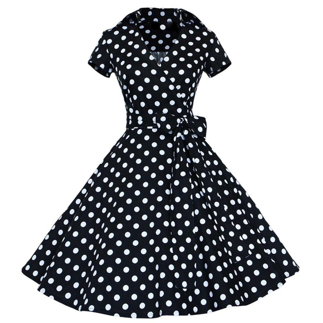 Vestido de mujer, ❤️Xinantime Vestido vintage de mujer vestido 50S 60S Swing Pinup Vestido de fiesta ocasional del ama de casa: Amazon.es: Ropa y ...