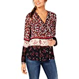 Tommy Hilfiger Womens Floral Pullover Blouse